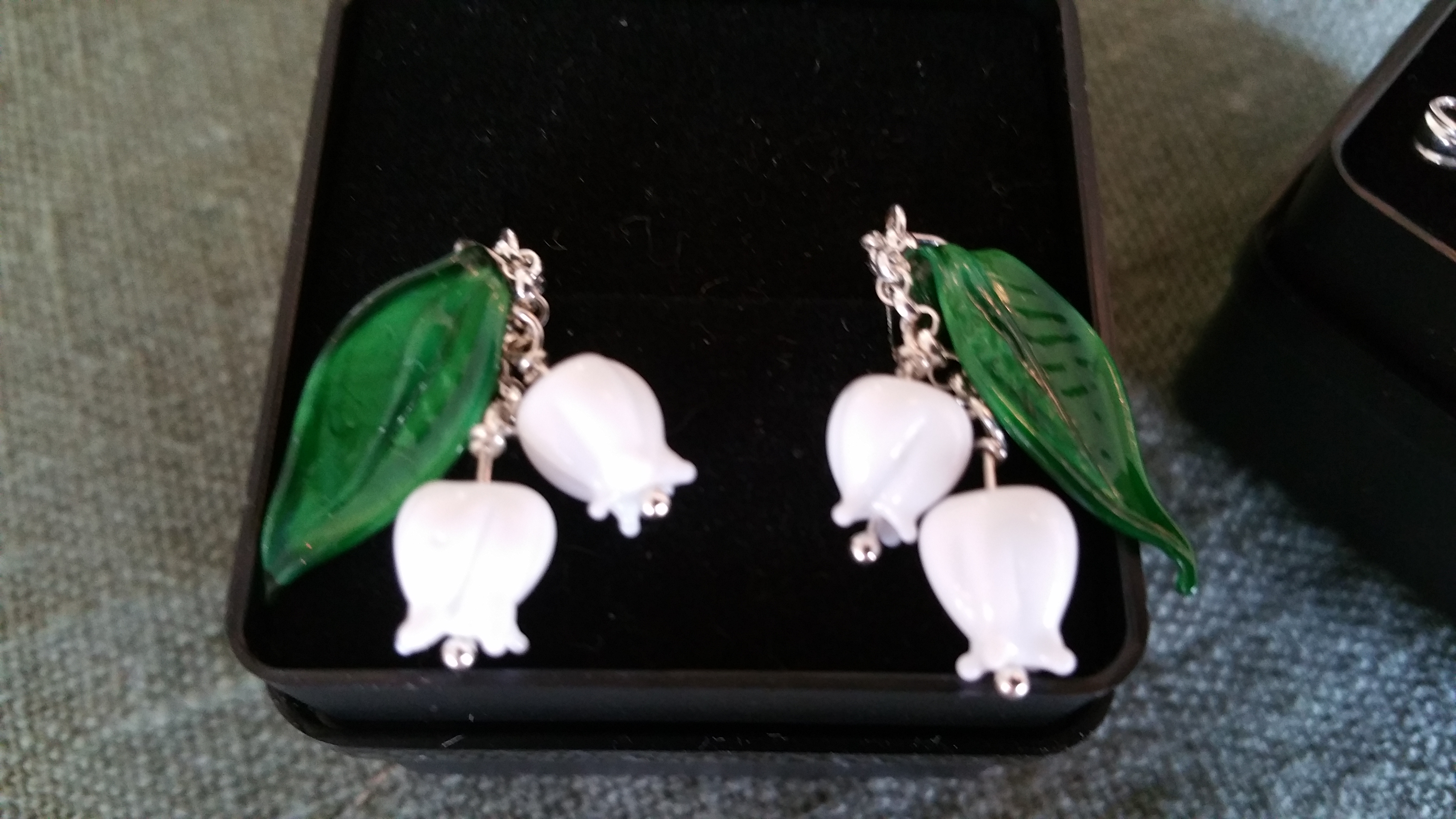 Lilly of the Valley earrings.